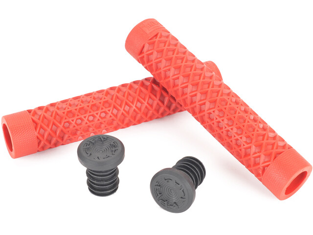 CULT Vans Waffle BMX Grips by ODI, red